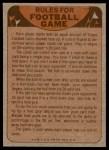 1974 Topps  Checklist   Patriots Back Thumbnail