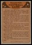 1974 Topps  Checklist   Chicago Bears Team Back Thumbnail