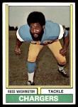 1974 Topps #416  Russ Washington  Front Thumbnail