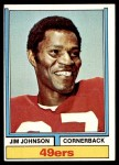 1974 Topps #430  Jimmy Johnson  Front Thumbnail