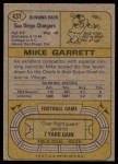 1974 Topps #437  Mike Garrett  Back Thumbnail