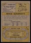 1974 Topps #437  Mike Garrett  Back Thumbnail