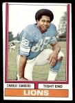 1974 Topps #440  Charlie Sanders  Front Thumbnail