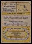 1974 Topps #485  Jackie Smith  Back Thumbnail