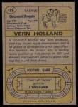1974 Topps #486  Vern Holland  Back Thumbnail