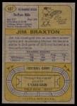 1974 Topps #487  Jim Braxton  Back Thumbnail