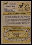 1974 Topps #499  Joe Schmiesing  Back Thumbnail