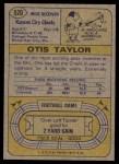 1974 Topps #520  Otis Taylor  Back Thumbnail