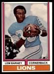 1974 Topps #525  Lem Barney  Front Thumbnail