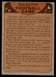 1974 Topps  Checklist   Jets Back Thumbnail