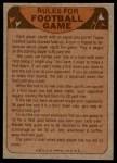 1974 Topps  Checklist   Vikings Back Thumbnail