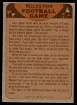 1974 Topps  Checklist   Chiefs Back Thumbnail