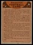 1974 Topps  Checklist   Detroit Lions Team Back Thumbnail