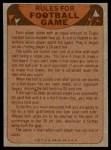 1974 Topps  Checklist   Broncos Back Thumbnail