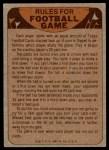 1974 Topps  Checklist   Bengals Back Thumbnail