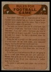 1974 Topps  Checklist   Indianapolis Colts Team Back Thumbnail