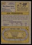1974 Topps #417  Joe Federspiel  Back Thumbnail