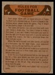 1974 Topps  Checklist   Los Angeles Rams Team Back Thumbnail