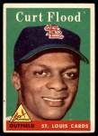 1958 Topps #464  Curt Flood  Front Thumbnail