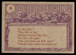 1959 Topps / Bubbles Inc You'll Die Laughing #6   Doc can I stop Back Thumbnail