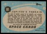1957 Topps Space Cards #81   Jupiter's Terrain Back Thumbnail