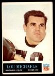 1965 Philadelphia #7  Lou Michaels     Front Thumbnail
