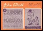 1970 Topps #54  John Elliott  Back Thumbnail