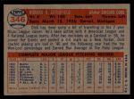 1957 Topps #346  Dick Littlefield  Back Thumbnail