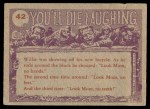 1959 Topps / Bubbles Inc You'll Die Laughing #42   Sure makes you look ugly Back Thumbnail