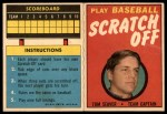 1970 Topps Scratch Offs #19  Tom Seaver  Front Thumbnail