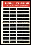 1970 Topps Scratch Offs #10  Al Kaline      Back Thumbnail