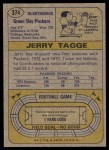 1974 Topps #374  Jerry Tagge  Back Thumbnail
