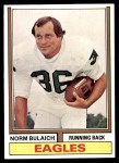 1974 Topps #405  Norm Bulaich  Front Thumbnail