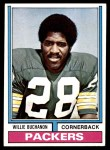 1974 Topps #292  Willie Buchanon  Front Thumbnail