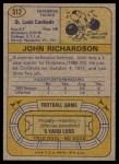 1974 Topps #312  John Richardson  Back Thumbnail