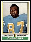 1974 Topps #281  Lionel Aldridge  Front Thumbnail
