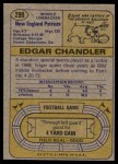 1974 Topps #299  Edgar Chandler  Back Thumbnail