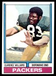 1974 Topps #349  Clarence Williams  Front Thumbnail
