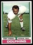 1974 Topps #365  Manny Fernandez  Front Thumbnail