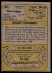 1974 Topps #365  Manny Fernandez  Back Thumbnail