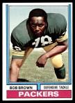 1974 Topps #266  Bob Brown  Front Thumbnail