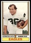 1974 Topps #405  Norm Bulaich  Front Thumbnail