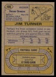 1974 Topps #406  Jim Turner      Back Thumbnail