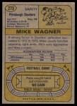 1974 Topps #273  Mike Wagner  Back Thumbnail
