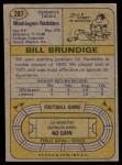1974 Topps #287  Bill Brundige  Back Thumbnail