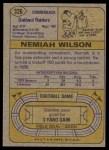 1974 Topps #326  Nemiah Wilson  Back Thumbnail