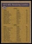 1974 Topps #330   -  Harold Carmichael / Fred WIllis Receiving Leaders Back Thumbnail
