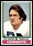 1974 Topps #335  Walt Garrison  Front Thumbnail