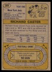 1974 Topps #389  Richard Caster  Back Thumbnail