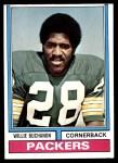 1974 Topps #292  Willie Buchanon  Front Thumbnail